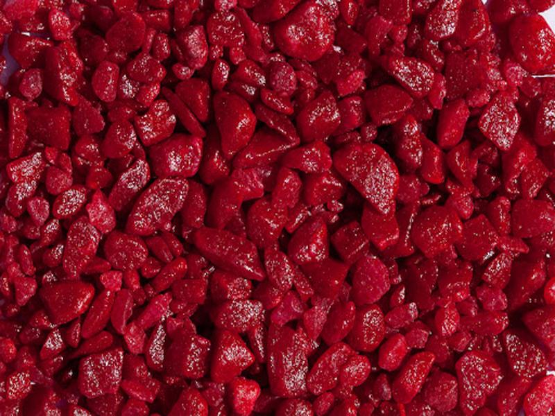 Окрашенная красная каменная крошка из мрамора