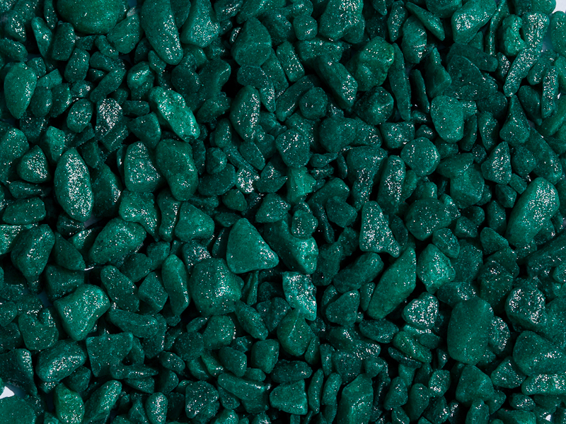 Окрашенная зелёная каменная крошка из мрамора