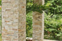 Портфолио-Облицовка колонн камнем