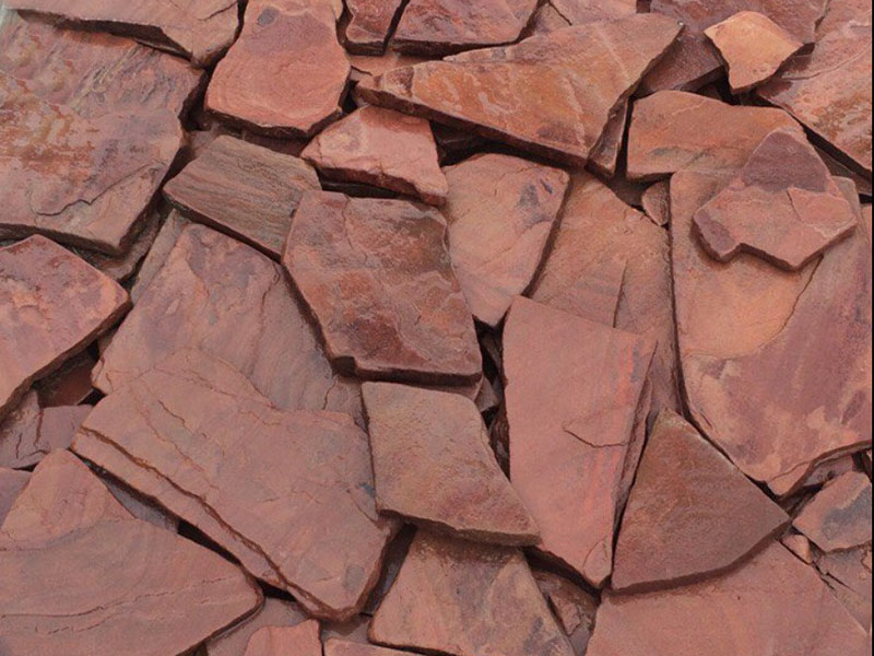 Песчаник красный обожжённый