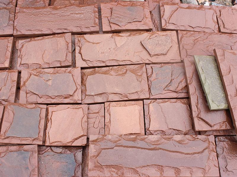 Плитка из песчаника красного, обожжённого