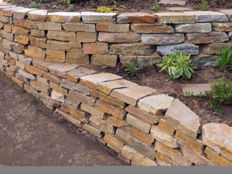 Фото подпорных стен из каменной кладки