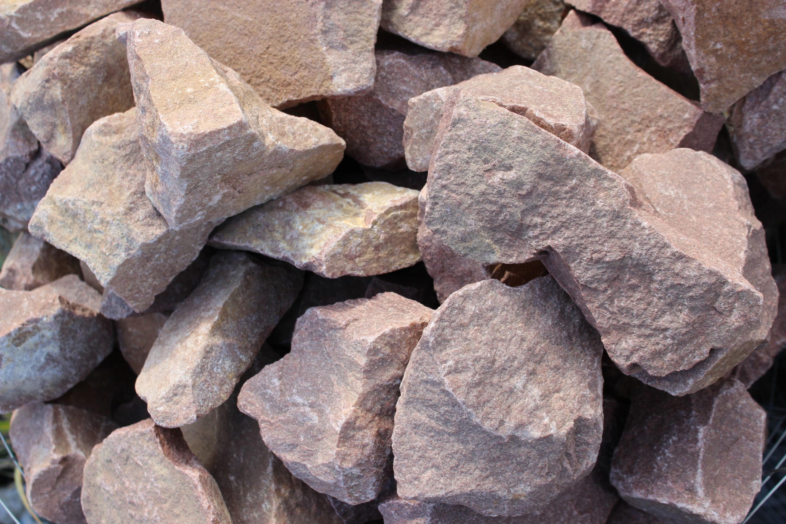 Камень для габионов кварцит малиновый