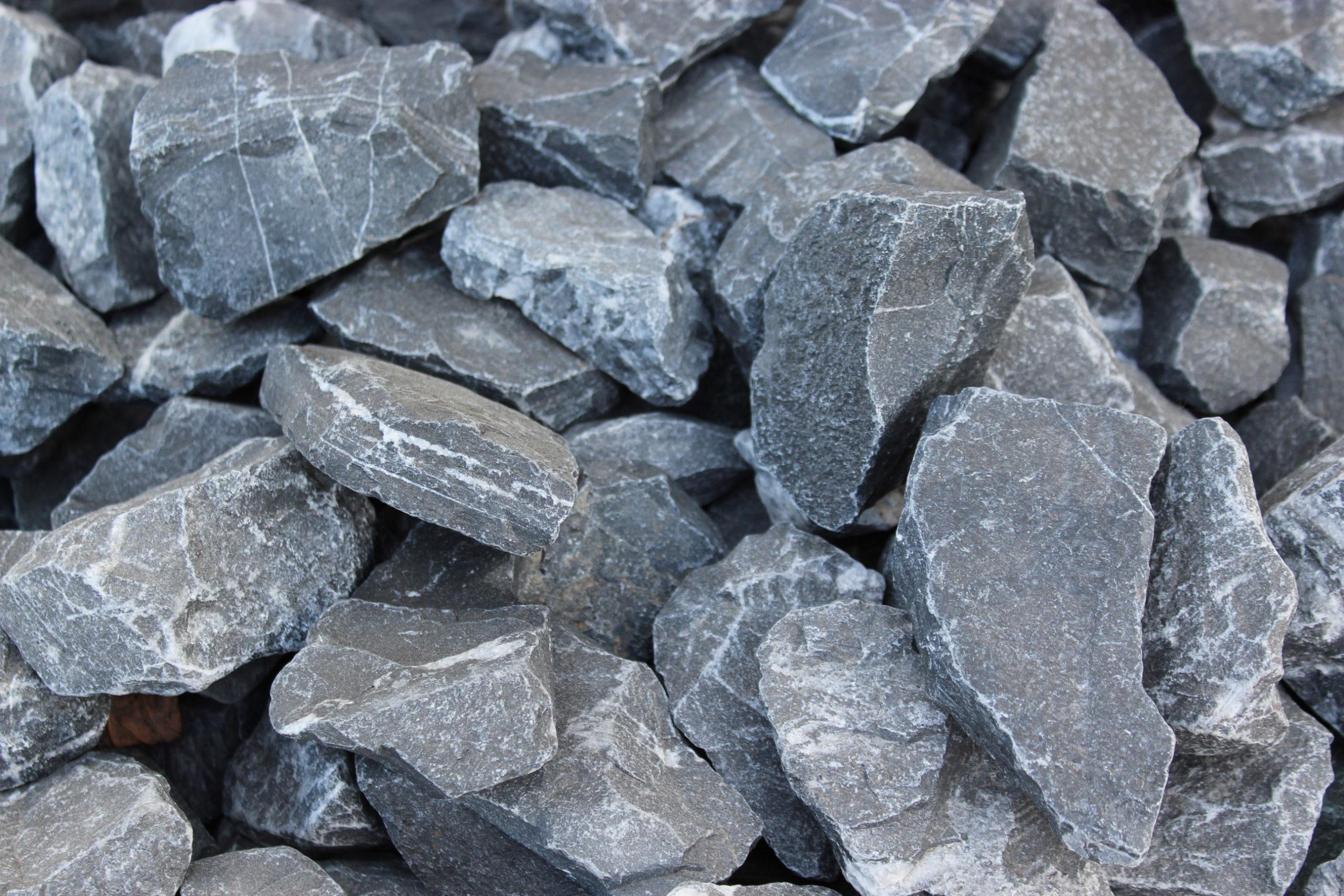 Камень для габионов черный мрамор