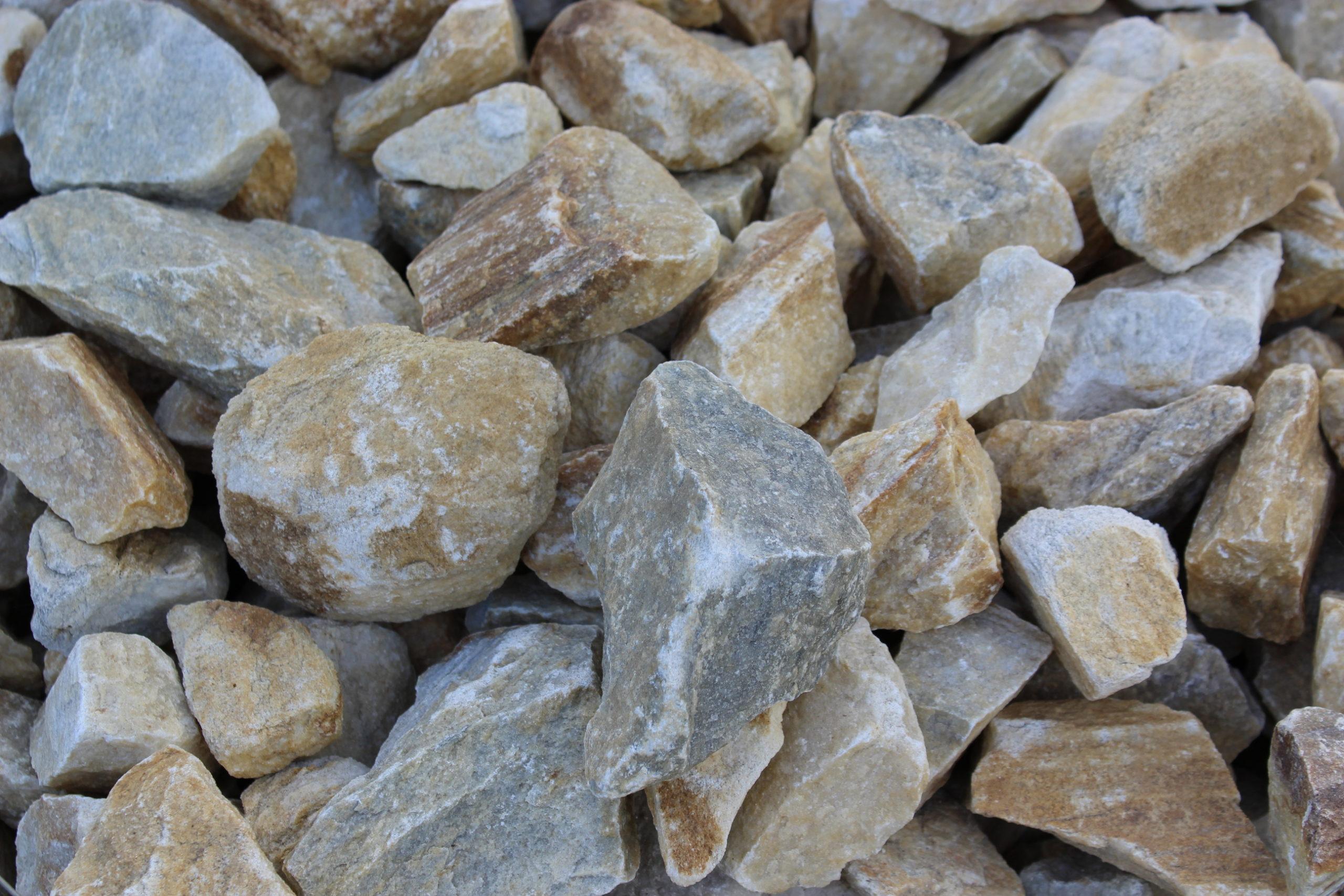 Камень для габионов бело-желтый мрамор